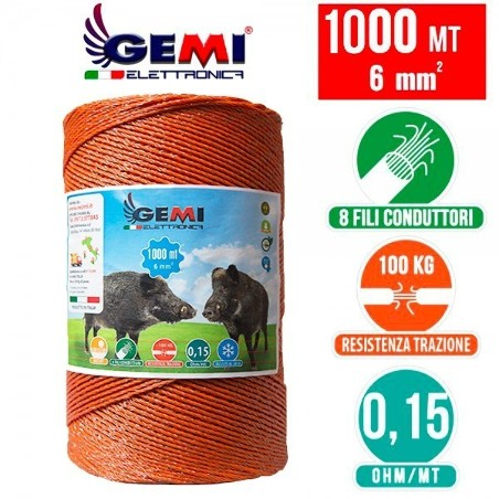 500 mt of 6mm double circular conducting wire