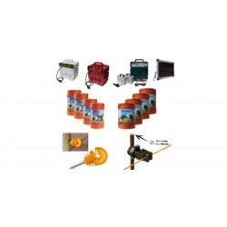 Insulators Double Hook for Wooden Poles used for Barrier passage in Electric fences by Gemi Elettronica