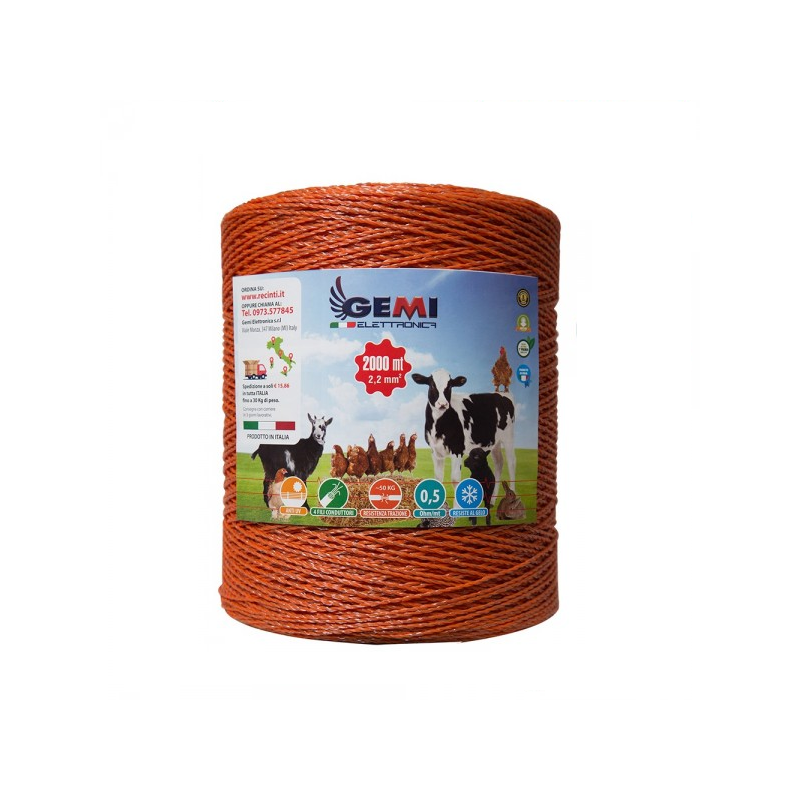Steel wire 900 metres 0,70x7 conducting wires