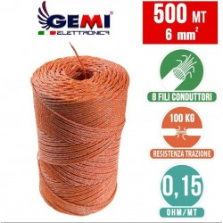 Yellow Wooden Poles Insulators for Electric Fencing by Gemi Elettronica
